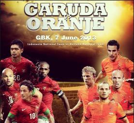 pertandingan persahabatan Indonesia vs Belanda